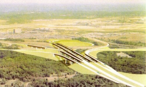 Conceptual drawing of the future PA 60/Pittsburgh International Airport interchange