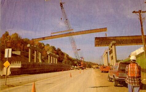 PA 130 interchange bridge work