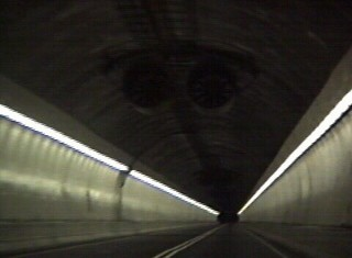 Midway through the tunnel