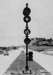 Signal indicating 45 MPH