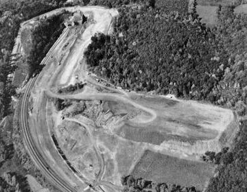 Excavating operations at Tuscarora Mountain