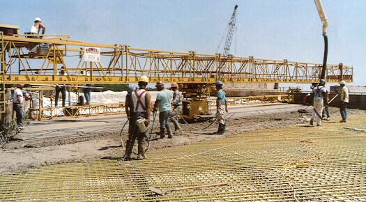 Bridge Decking Being Poured