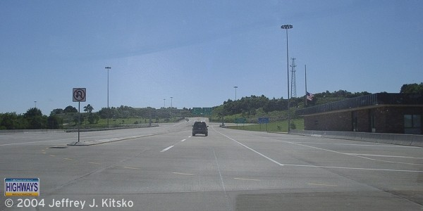 The former New Castle Toll Plaza at PA Turnpike 60