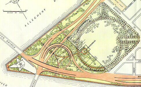 Detailed drawing of the interchange at the Point