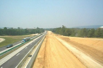 Grading for the new highway
