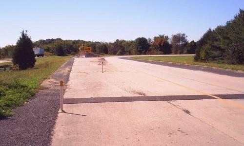 Former stub ramp southeast of Doylestown