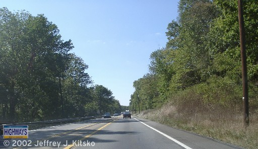 """Westbound in """"The Narrows"""" prior to construction beginning"""