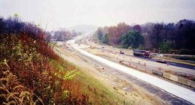 US 30 construction near Conestoga Creek