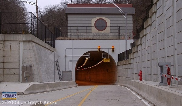 Southern portal of the Wabash Tunnel off Woodruff Street