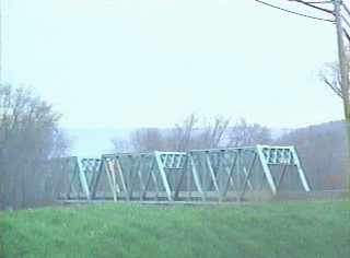 Old steel truss bridge just south of the NY/PA line