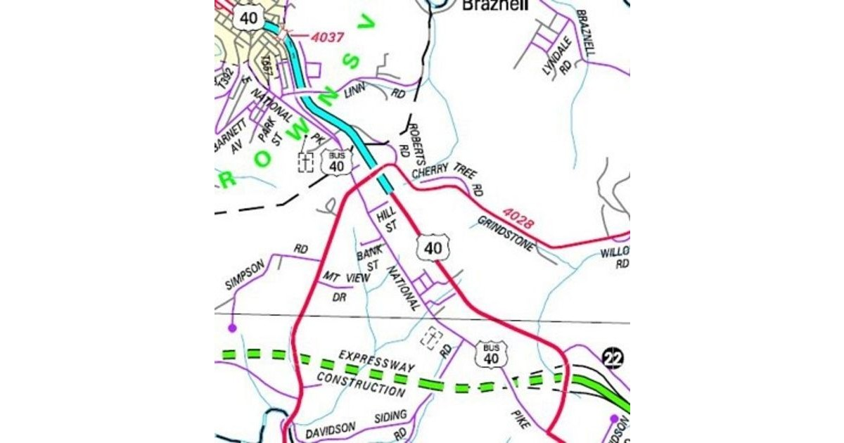 Path of the newest US Business Route in Pennsylvania.