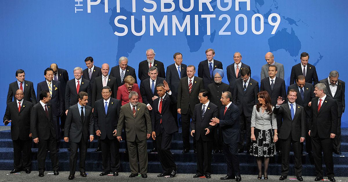 Leaders of the 20 largest economies in the world came to discuss matters in Pittsburgh.