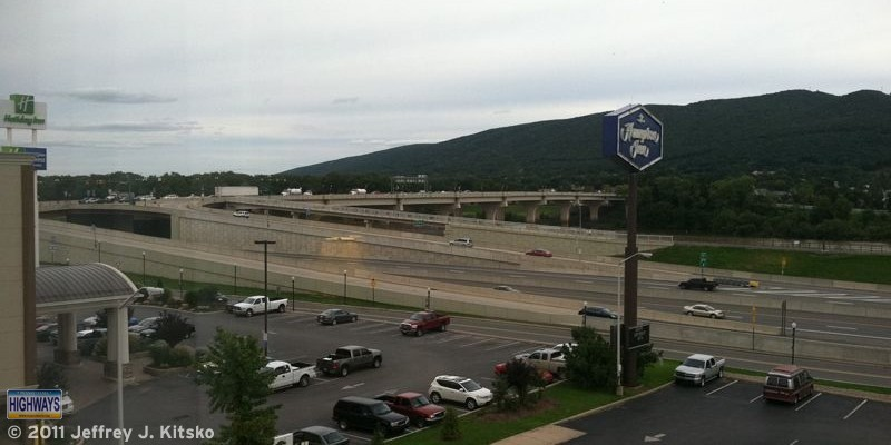 View of the Interstate 180/US 15 SPDI from my hotel room window