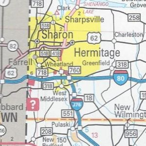 Interstate 376 replaces PA 60 and PA 760 signed in Mercer County.