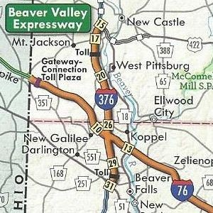 Interstate 376 replaces PA Turnpike 60 on the 2011 official turnpike map