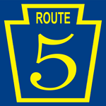 Original state route shield that were usually painted on telephone or telegraph poles.