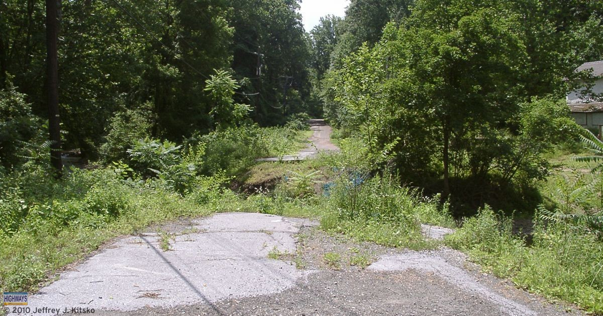The northern end of the closed section of PA 82 in Birdsboro.