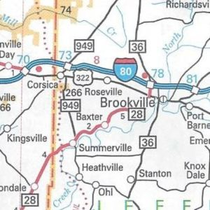 PA 949 extended southward on the 2006 official road map.