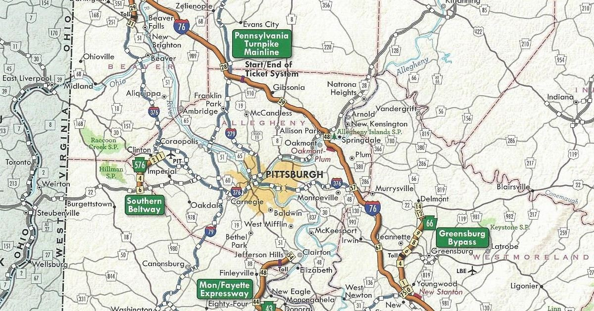 PA Turnpike 576 shown as completed on the 2011 official turnpike map