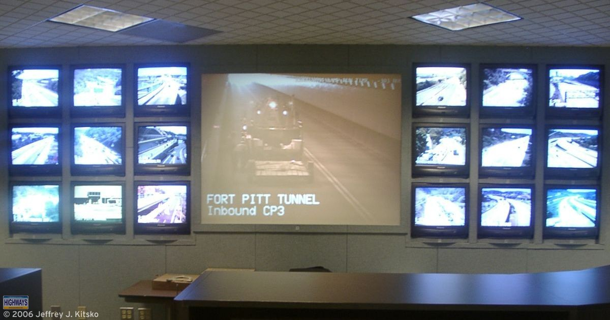 A tour of the Pittsburgh Regional Traffic Management Center was the focus of Day Two of the National Road Enthusiast Meet.