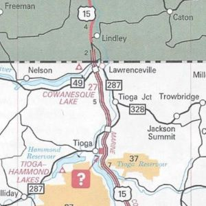 US 15 completed in Tioga County on the 2009 official road map.