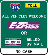 I-376 E-ZPass or PA Turnpike BILL BY PLATE Accepted