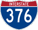 Interstate 376 marker