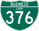 Interstate Business Loop 376 marker