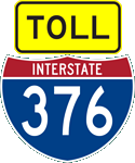 Toll and Interstate 376 markers