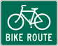 Image of a Bike Route Sign (D11-1)