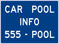 Image of a Car Pool Information Sign (D12-2)