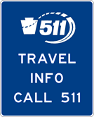 Image of a Travel Info Call 511 Sign (D12-5)