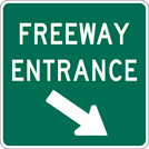 Image of a Freeway Entrance Right Sign (D13-3AR)