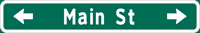 Image of a Single-Line Advance Street Name Sign (D3-2)