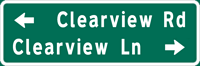 Image of a Double-Line Advance Street Name Sign (D3-3)