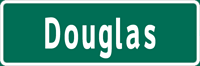 Image of a Single-Line Overhead Street Name Sign (D3-4)