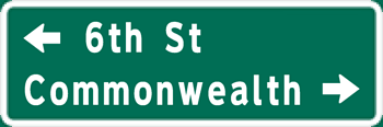 Image of a Double-Line Overhead Street Name Sign (D3-5)