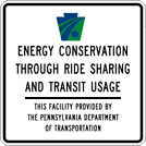 Image of a Department Ride Sharing Parking Lot Sign (D4-10)