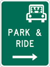 Image of a Park And Ride Sign (D4-2)