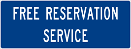 Image of a Free Reservation Service Sign (D5-6-3)