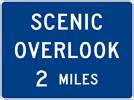 Image of a Advance Scenic Overlook Sign (D6-2)