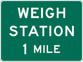 Image of a Advance Weigh Station Sign (D8-1)