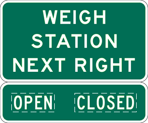 Image of a Weigh Station Next Right Sign (D8-2)