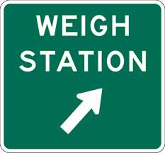 Image of a Weigh Station Sign (D8-3)