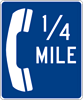 Image of a Telephone (__) Mile Sign (D9-1B)