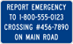 Image of a Emergency Notification Sign (I-13A)