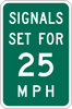 Traffic Signal Speed sign