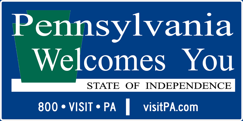 Image of a Pennsylvania Welcomes You Sign (I13-2)