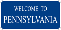 Image of a Alternate Welcome to Pennsylvania Sign (I13-2A)