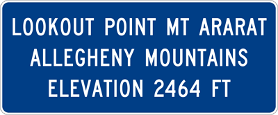 Image of a Mountain Summit and Elevation Sign (I13-3)